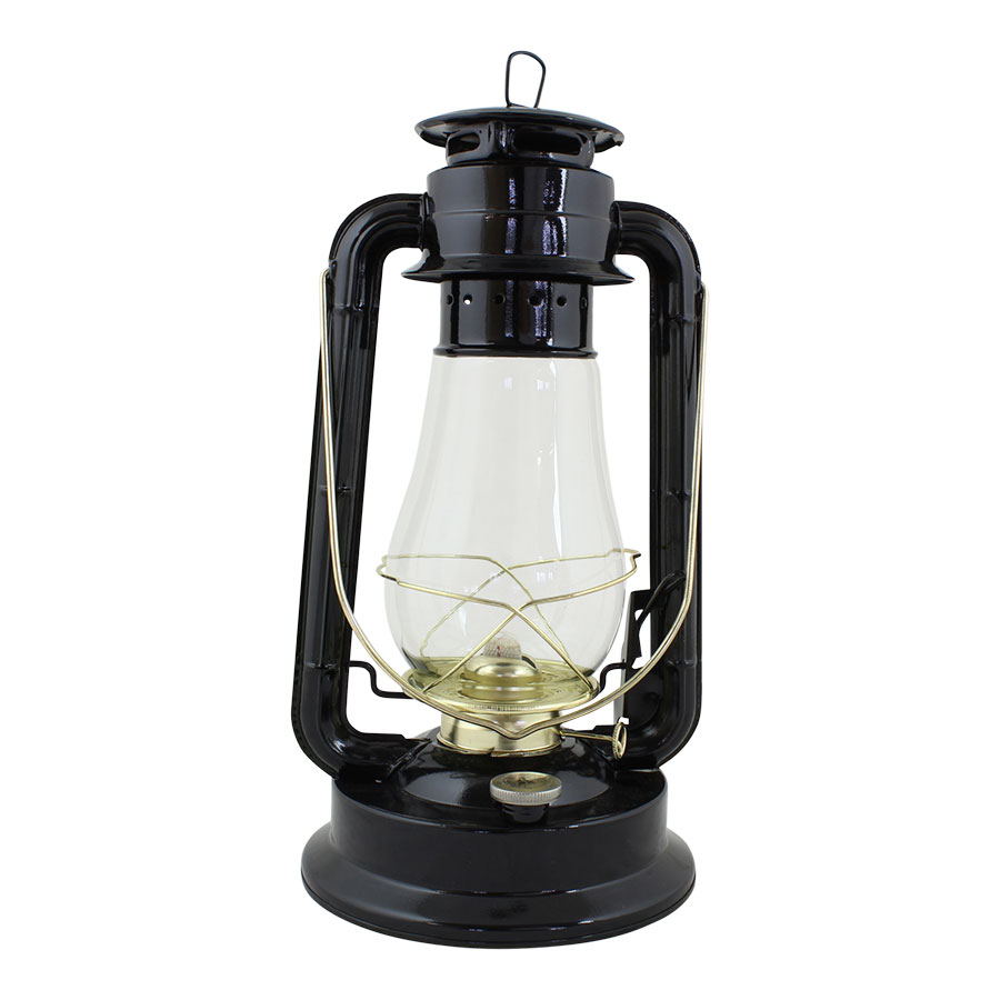 Hurricane Lantern Black/Brass Large
