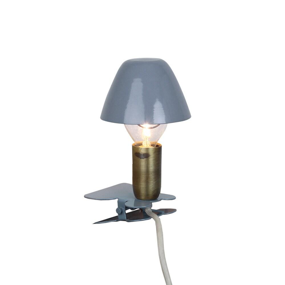 Lamp Mini On Clip Blue