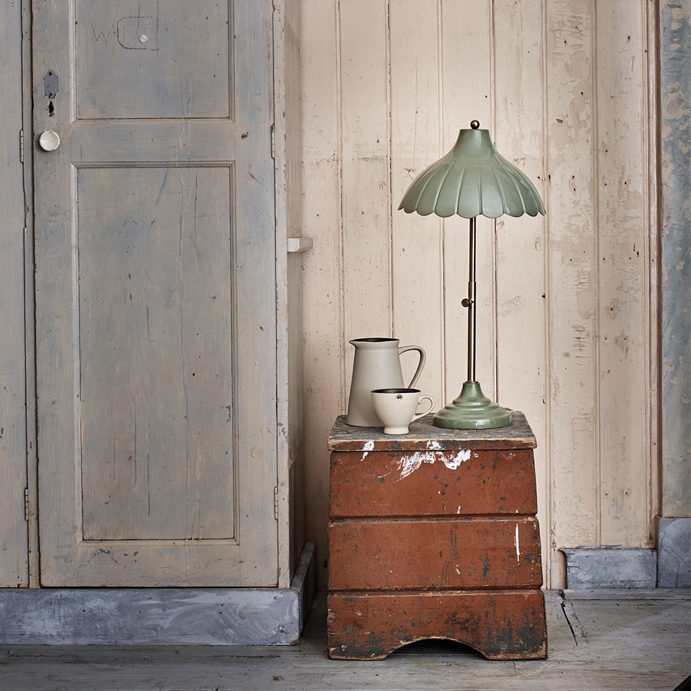 Table Lamp Annie Antique Green