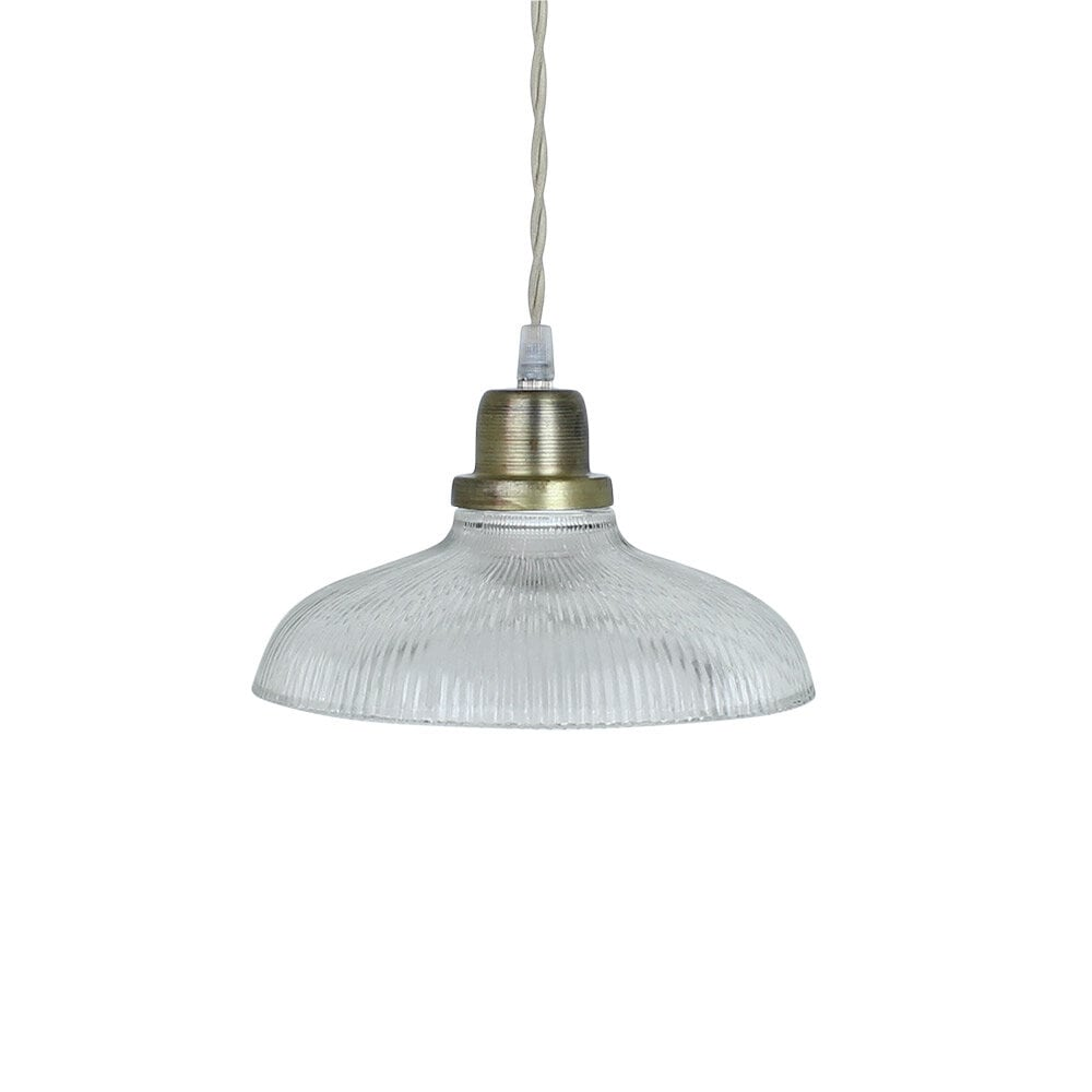 Pendant Lamp Greta Stripe Clear/Antique Brass