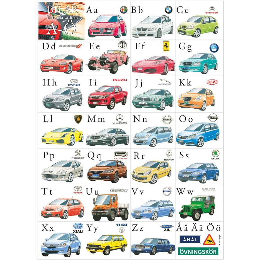 Poster ABC Bilar