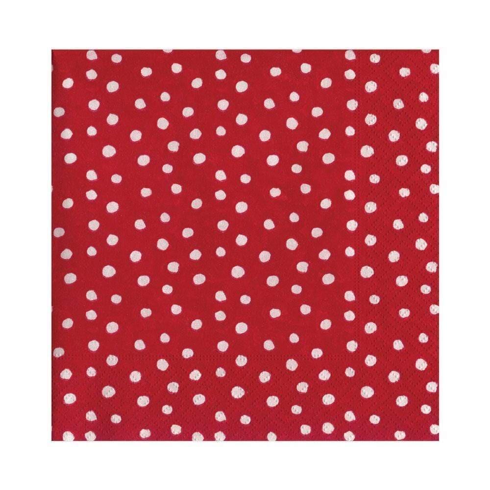 Pappersservett Small Dots Red