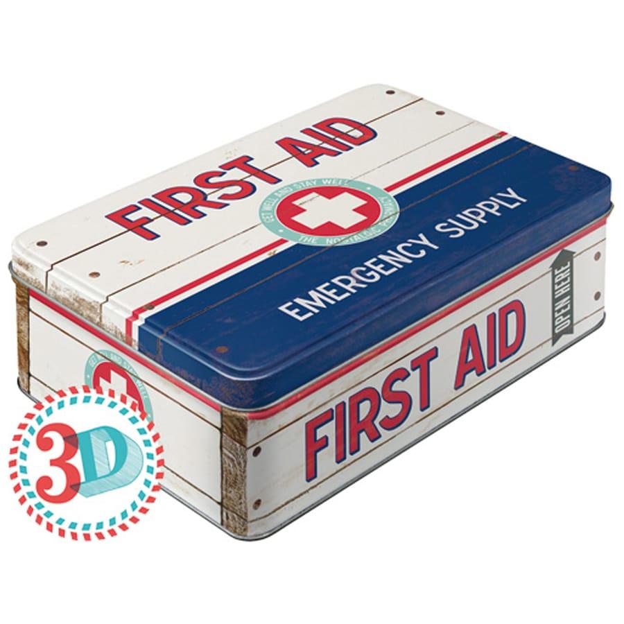 Plåtburk First Aid Emergency Supply