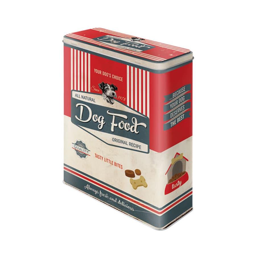 Plåtburk Dog Food Röd Hög