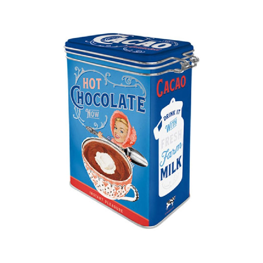 Plåtburk Spännlock Cacao Addicted