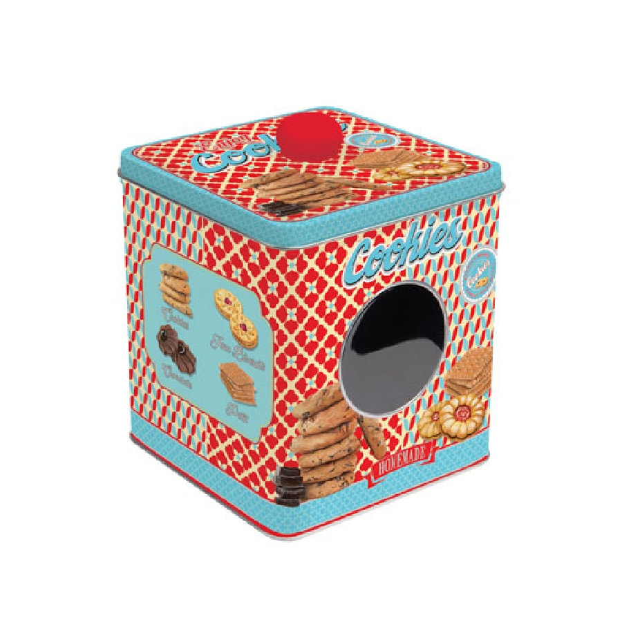 Plåtburk m. Knopp Cookies Homemade