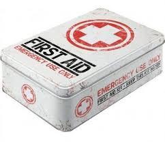 Plåtburk First Aid Emergency Only